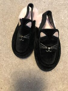 Super cute Toddler girl The Children's Place Cat style faux Fur flat shoe size 9