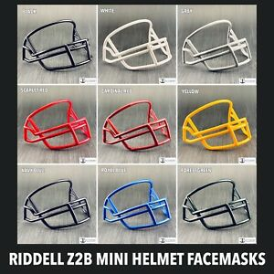 Riddell Z2B Plastic Mini Helmet Facemask Replacement Throwback OPO (11 Colors)