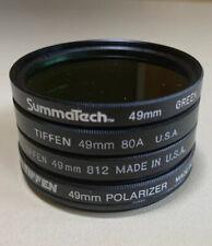 TIFFEN 49mm Circular Polarizing Filter Canon Nikon Lens blue green Summatech LOT
