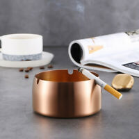 Stainless Steel Round Ashtray Cigarette Ash Drop Resistant Windproof Ashtray