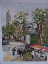 BLONDIN, Charles Pencil Signed Numbered  Paris Street Scene Impressionism City