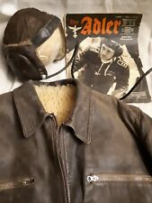Lot blouson pilote allemand  cuir ww2 luftwaffe militaria fligt jacket