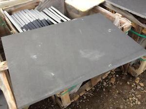 Natural Black Lime Stone Hearth 1200 x 600  (not slate) Sawn edge