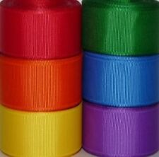 6 Yards - 2 1/4 inch Primary Solid Grosgrain Ribbon - 1 yards each color