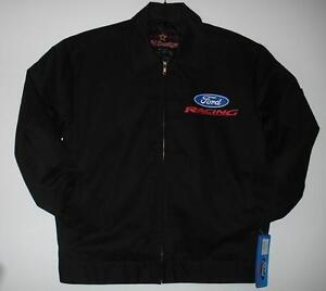 Size M Authentic  Ford Racing Mechanic  Printed Jacket JH Design Black