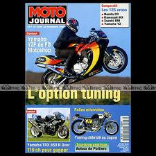 MOTO JOURNAL N°1206 YAMAHA YZF 750 TRX 850 YZ 125 SUZUKI RM KAWASAKI KX HONDA CR