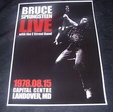 Bruce Springsteen concert poster Capital Centre Landover MD 1978  A3 size repro