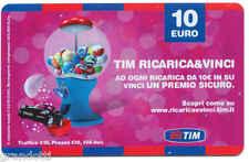 TIM PREMIO SICURO RICARICA & VINCI 10 EURO DIC 2011 USATA DA COLLEZIONE