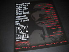 PEPE AGUILAR 2008 Promo Display Ad UN RECONOCIMIENTO MUSICAL DE UN GRANDE....