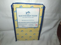 SOUTHERN TIDE King Pillowcases FISH SKIPJACK YELLOW BLUE