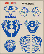 Décalques pour truckdekor pour SCANIA CS bleu 6,8 x 4,6 cm