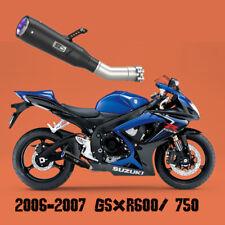 CPS Stainless Slip-on Exhaust Pipes Black For Suzuki gsxr600 gsxr750 2006-2007