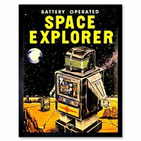 Advert Toy Battery Operated Space Explorer Robot 12X16 Inch Framed Art Print