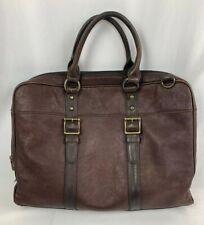 Fossil Leather Laptop Messenger Bag Estate Document Briefcase C10