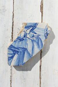 18th Century Antique Portuguese God Hand Tile Fragment