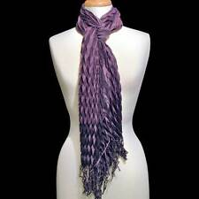 Purple Zig Zag Fringed Fashion Scarf