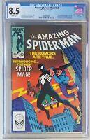 Amazing Spider-Man #252 CGC 8.5 WHITE PGS! FIRST Black Suit!! FIRST Venom!! HOT!