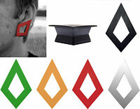 GeoGauges Brand Diamond-Shaped Silicone Tunnels Ear Plugs Gauges Body Jewelry