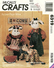 """McCall's Cow Doll Package Pattern 6318 Size 29"""",11"""" Uncut"""