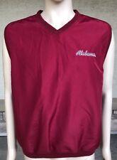 Vintage Alabama Crimson Tide Windbreaker Vest Russell Athletic Size Large