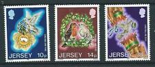JERSEY SG402/4 1986 CHRISTMAS MNH