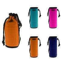 Neoprene Water Bottle Carrier Insulated Cover Bag Holder Drink Beverage Tote