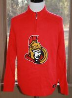 Ottawa Senators NHL Size Large 1/4 Zip Pullover Sweater Logo 1/4 Zip Men's (AG)