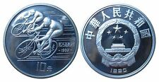 CHINA KM 300  10 Yuan Olympia 1992 Radfahrer 1990 in PP Proof 472035