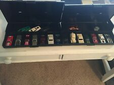 T-JET AFX 4 GEAR SLOT CAR JUNKYARD WITH 2 PIT BOXES MANY NEW AND USED PARTS