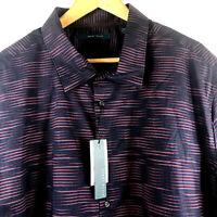 Perry Ellis Mens Big Tall Long Sleeve Shirt Sassafras Blue Stripe Size 3XLT $89