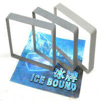 Clear Crystal Ice Bound Block Glass Deck Playing Cards Close-Up Magic Tricks AU
