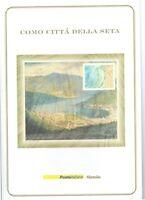 ITALIA - FOLDER 2001 - COMO CITTA' DELLA SETA VALORE FACCIALE € 15,00