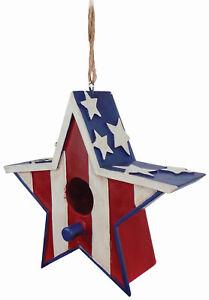 SPOONTIQUES 10188 AMERICANA STAR BIRDHOUSE