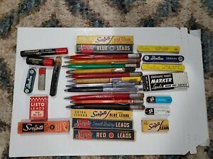 VTG Mechanical Pencil Lead Lot Scripto Eberhard Faber Listo US Navy Red Blue Blk