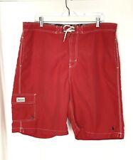 Vtg Polo by Ralph Lauren Men's Red Mesh Lined Cargo Swim Trunks Size XL