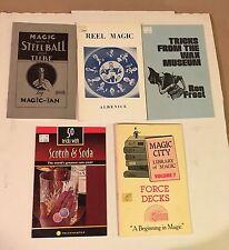 5 New Magic Trick Instruction Books Lot Scotch Soda Force Wax Reel Steel Ball