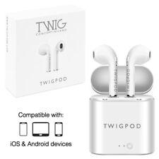 Écouteurs bluetooth TWIGPOD avec étui de charge sans fil casques wireless