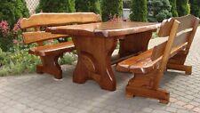 Sitzgruppe Gartenmöbel Massivholz Terrassenmöbel  Sitzgarnitur Esche/Eichenholz