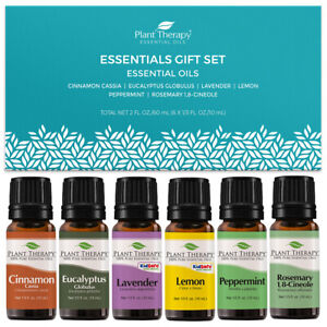 Plant Therapy Essentials Oils Gift Set 6 -10 mL 100% Pure, Undiluted