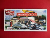 MONOPOLY IN-N-OUT OPOLY RARE GAME BOARD COLLECTORS EDITION NEW!