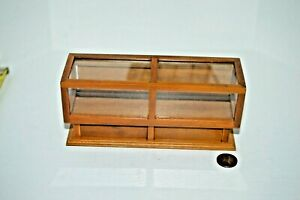 Miniature Store Display Case Walnut in 1:12 doll scale D2663