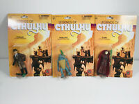 Lot (3) Warpo Legends of Cthulhu HP Lovecraft Action Figures MOC cultist deep