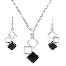 Conjuntos de joyas con diamantes o gemas de plata de ley ónix