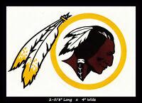 WASHINGTON REDSKINS FOOTBALL NFL TEAM LOGO DESIGN DECAL STICKER~BOGO 25% OFF