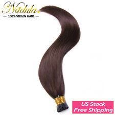 """100S Pre-Bonded Keratin Stick I Tip 100% Remy Straight Human Hair Extensions 20"""""""