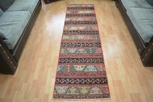 Turkishy Runner Rug,2.4x8.5,Vintage Patchwork Runner,Old Rug,Handmade Floor Rug