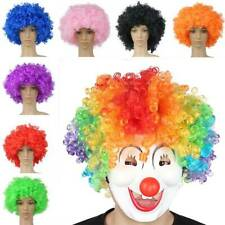 Halloween Party Afro Wigs Colorful Cosplay Hairs Clown Funny Wig Football Fans