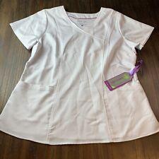 New listing Nwt Healing Hands Purple Label Modern Fit White Scrub Top Jordan Size Large