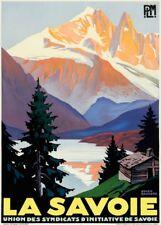 VINTAGE SKI posters la Savoie, France, 1930, art déco voyage A3 Imprimer