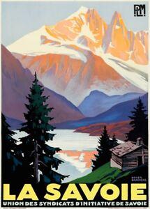 Vintage Ski Posters LA SAVOIE France, 1930, Reproduction Vintage Travel Poster